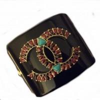 CHANEL  Великолепный лого- браслет с бирюзой