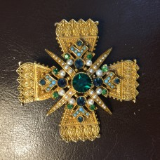 "ART Винтажная брошь-кулон  ""Мальтийский крест"""