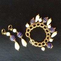 AVON  Комплект винтажный: браслет и клипсы