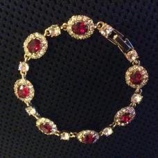 """Браслет винтажный """"Рубины и бриллианты""""."""