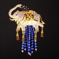 "ELIZABETH TAYLOR Брошь ""Elephant Walk"""