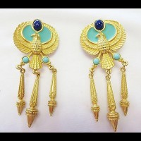 "ELIZABETH TAYLOR  ""Phoenix Earrings"""