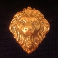 JOSEFF of HOLLYWOOD Брошь винтажная большая «Лев»